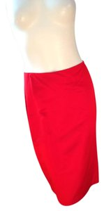 Ellen Tracy Linda Allard Skirt Red