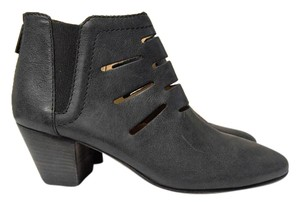 Aquatalia Ankle Made In Italy Cut Outs Zip Back dark grey Boots