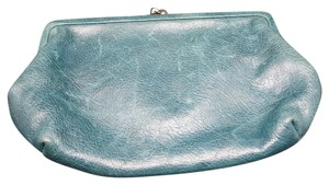 Perlina Perlina Wallet Teal blue leather Animal print lining