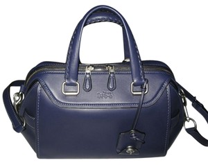 Coach Ace Leather Satchel in Indigo
