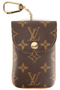 Louis Vuitton Brown Monogram Coated Canvas Phone Holder/Pouch