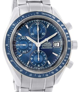 Omega Omega Speedmaster Date Blue Dial Chronograph Steel Watch 3212.80.00