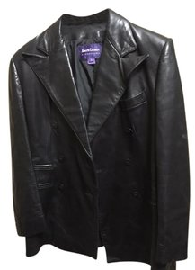Ralph Lauren Purple Label Black Leather Leather Jacket