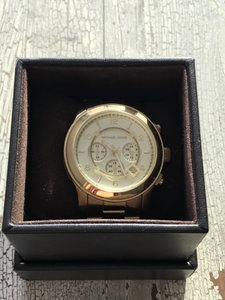 Michael Kors Michael Kors Runway MK8077 Oversized Gold Stainless Chronograph Watch