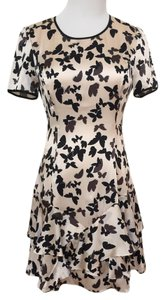 Reiss Party Casual Silk Print Ruffle Dress