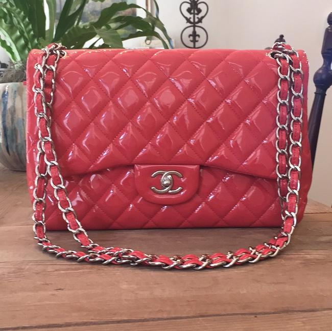 Item - 16525873 Coral Patent Leather Tote