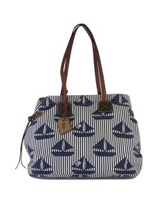 Dooney & Bourke Navy White Boat Print Purse Hobo Bag