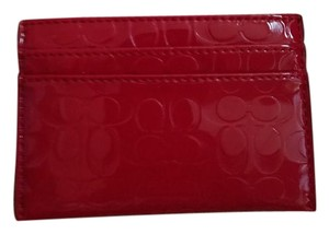 Coach Coach patent leather card / bill holder
