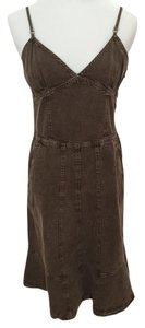 Sportmax short dress Denim - Brown Luxury Plunge on Tradesy