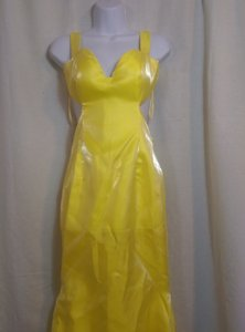 Satin Open Back Hi Low Dress Pre Owned Wedding Dress