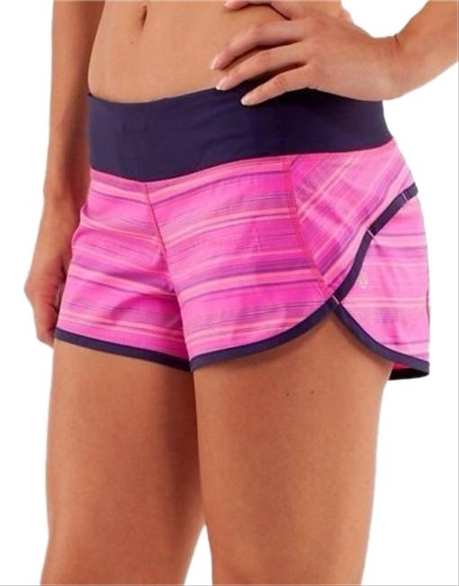 Item - Pow Pink and Navy Elevation Stripe Speed Activewear Bottoms Size 2 (XS, 26)