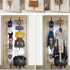 My Home 2pc Over the Door Adjustable Strap Purse, Clothes & Hat, Storage Racks