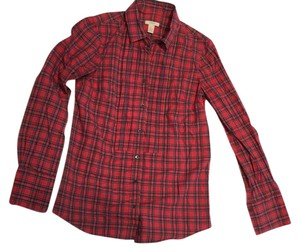 J.Crew Top Red Plaid