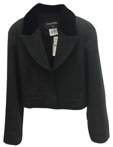 Chanel Gray, Black Blazer