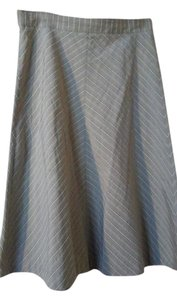 Piazza Sempione Skirt stone grey white stripe