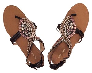 Nine West Black with jeweled design Sandals