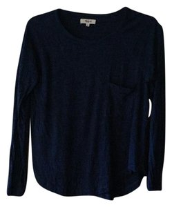 Madewell T Shirt Cobalt blue with black speckles