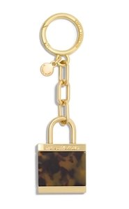 Michael Kors Michael Kors Key Charms Tortoise XL Lock & Key Fob