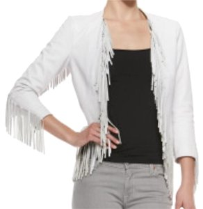 Rebecca Minkoff White Leather Jacket