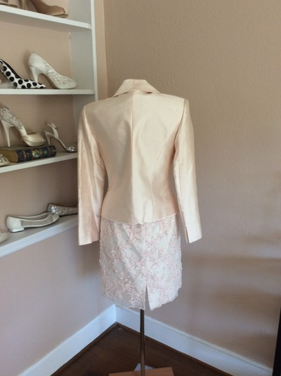 Montage Blush Silk Shantung & Beaded Lace Suit Traditional Bridesmaid/Mob Dress Size 6 (S)