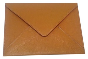 Hermès Hermes Yellow Leather Envelope Document Pouch
