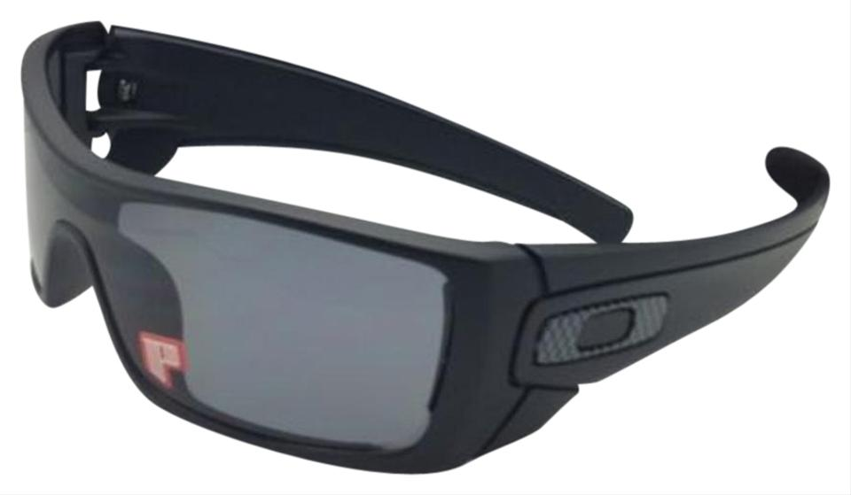 Oakley Polarized OAKLEY Sunglasses BATWOLF OO9101-04 Matte Black w Grey ... db101f2fef