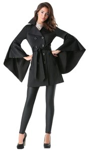 bebe Trench Trench Spring Coat BLACK Jacket