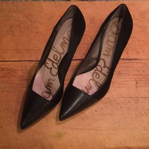 Sam Edelman Pump Stiletto Pointed Toe Fur Black Pumps