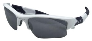 Oakley OAKLEY FLAK JACKET XLJ Sunglasses 03-943 White & Blue w/Black Iridium