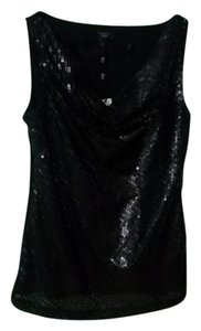 Talbots Sequin Top Black
