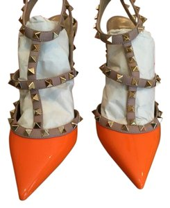 Valentino Orange Pumps