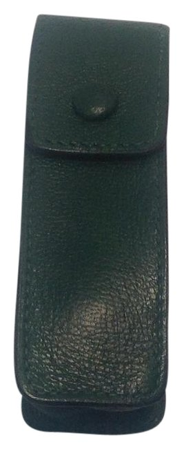 Item - Green Leather Lipstick/Chewing Gum Case Cosmetic Bag