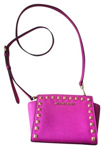 Michael Kors Pink Leather Cross Body Bag