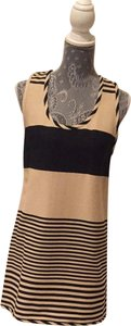 Ali Ro short dress Light Tan and navy Blue on Tradesy
