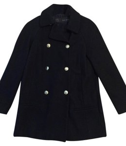 Zara Stylish Navy Pea Coat