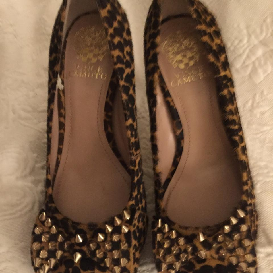 1d688ae25a0 Vince Camuto Leopard Print Pony Hair Spiked Heels Platforms Size US 7  Regular (M