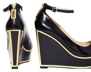 Kat Maconie Black/gold Wedges