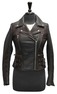 Free People Womens Leather Moto Motorcycle Jacket
