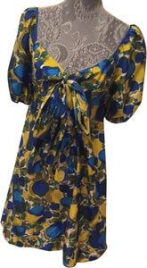 Rebecca Taylor short dress Blue And Yellow on Tradesy