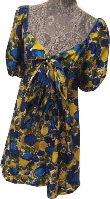 Preload https://item2.tradesy.com/images/rebecca-taylor-blue-and-yellow-short-casual-dress-size-4-s-1948266-0-0.jpg?width=400&height=650
