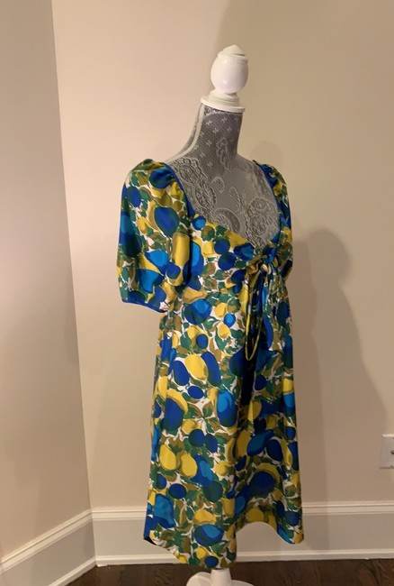 Rebecca Taylor short dress Blue And Yellow on Tradesy Image 2