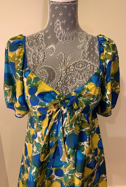 Rebecca Taylor short dress Blue And Yellow on Tradesy Image 3
