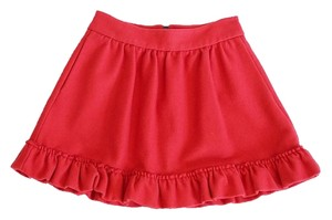 M Missoni Ruffle Mini Skirt Red