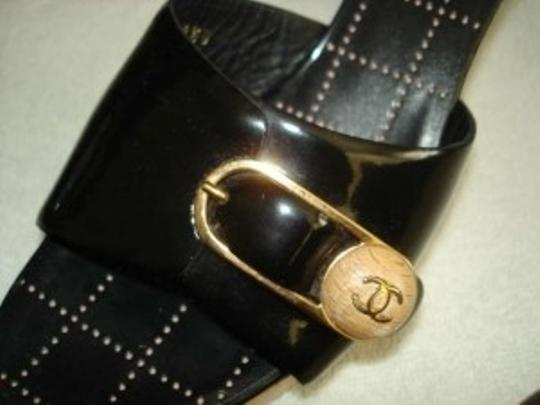 Chanel patent black leather Sandals