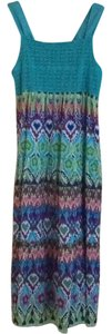 Turquoise Multi Maxi Dress by Macy's