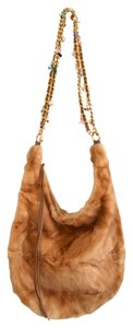 Bloomingdale's Fur Chain Hobo Cross Body Bag