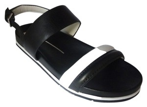 Dolce Vita Leather Black/White Leather Sandals