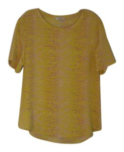 Equipment Yellow Silk Top Canary Multi