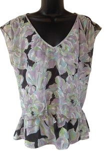 Ann Taylor LOFT Top purple, gray, green