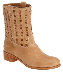 Delman Goatskin Leather Mid Ankle Hazelnut Boots